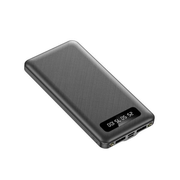 DF-10000PB02 Ultra-thin cute cartoon pattern 10000 mAh power bank digital display power bank with flash