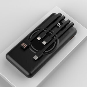DF-10000MPB39 Portable High 4in1 15W Qi Magnetic Connection 10000mAh Wireless Power Banks Fast Charge with Four Cable